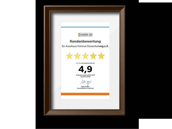 Kundenbewertung bei mobile.de